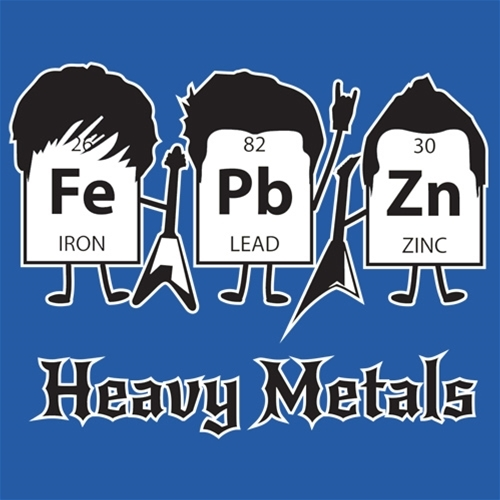 Many heavy metals are toxic to bacteria.