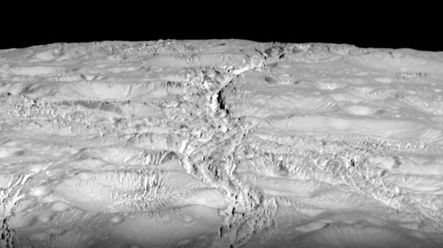 Enceladus' surface is anything but uniform.