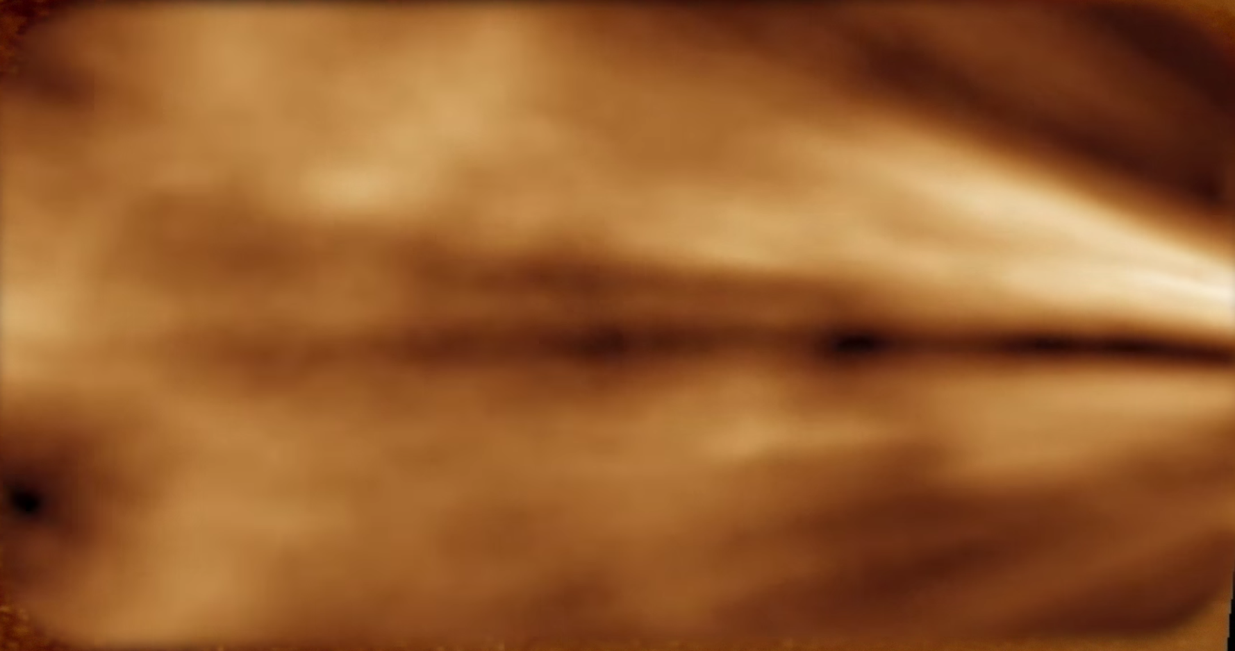 In this image, the solar wind is seen in a region we've never been able to see in this detail before.