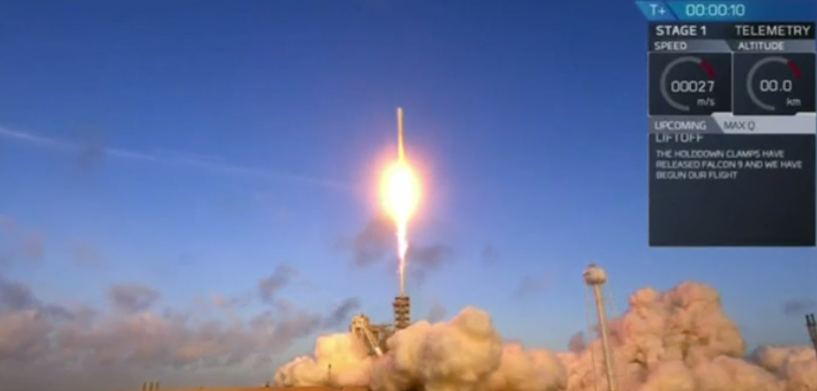 SpaceX's Falcon 9 rocket blasts off from the Kennedy Space Center in Florida on Monday.
