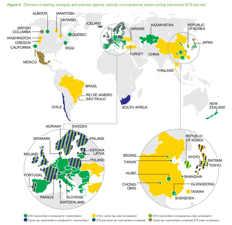 Where do carbon taxes exist? Photo: Carbon Tax