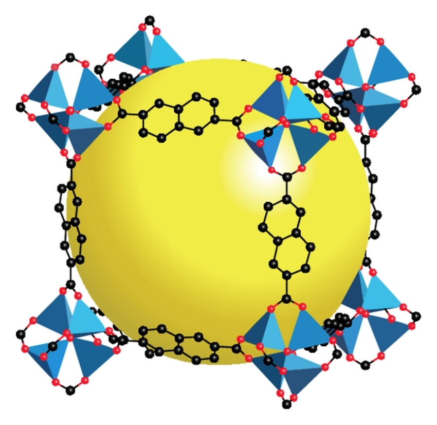 This is what the structure of MOF5 looks like. Photo: ResearchGate