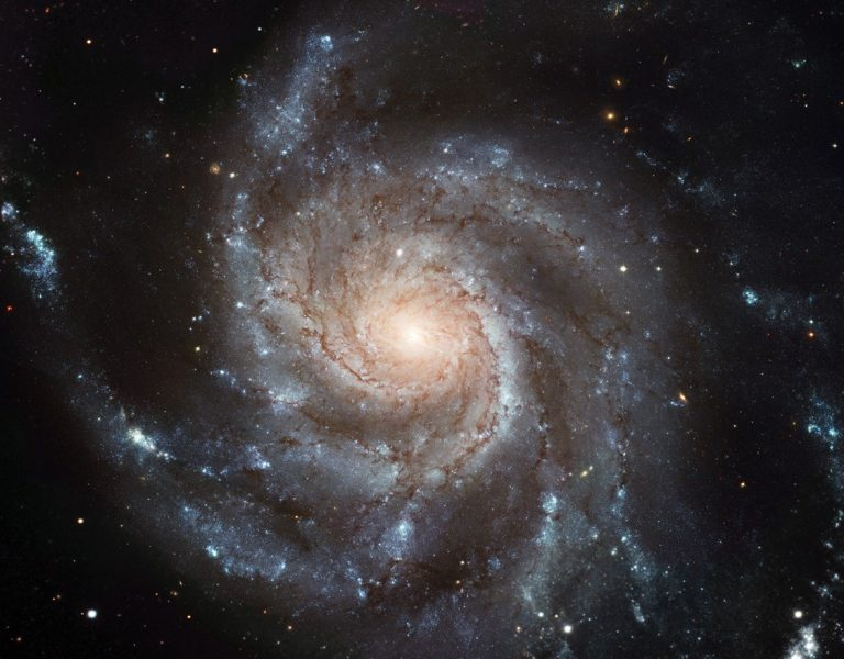 Galaxies like this one, no matter their size, seem to rotate at similar rates.