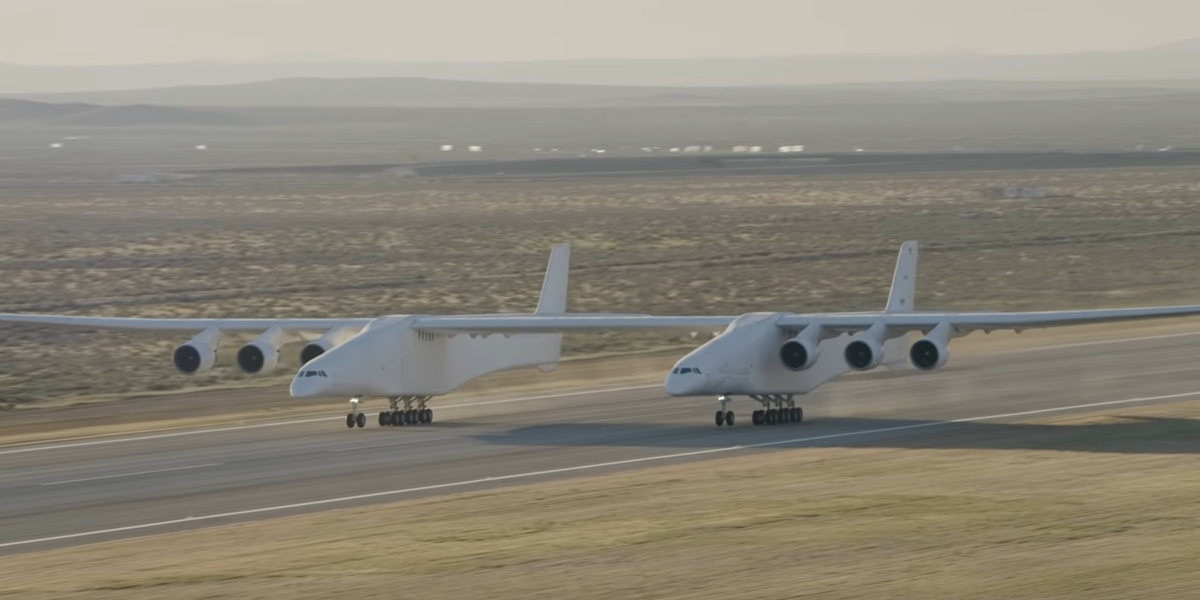 Stratolaunch in all of its wide-winged glory.