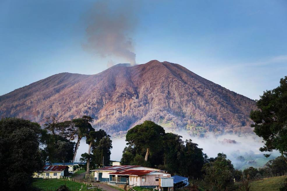 Turrialba Volcano is a currently active volcano in central Costa Rica. March, 2012. Photo: Simon Carn / Michigan Technological University