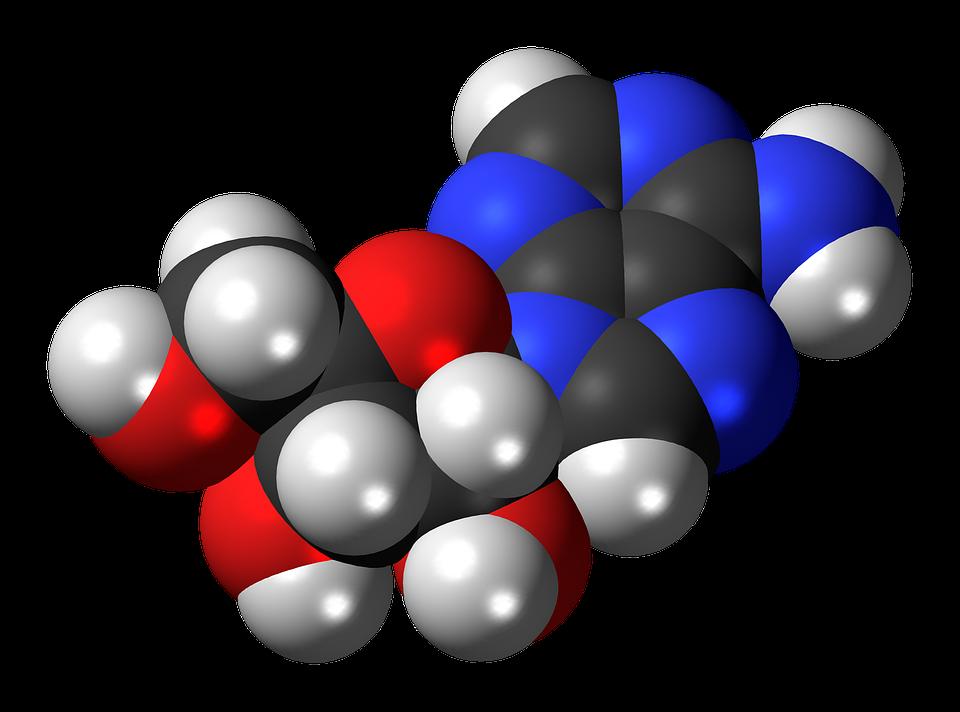 Adenosine molecule, from Pixabay