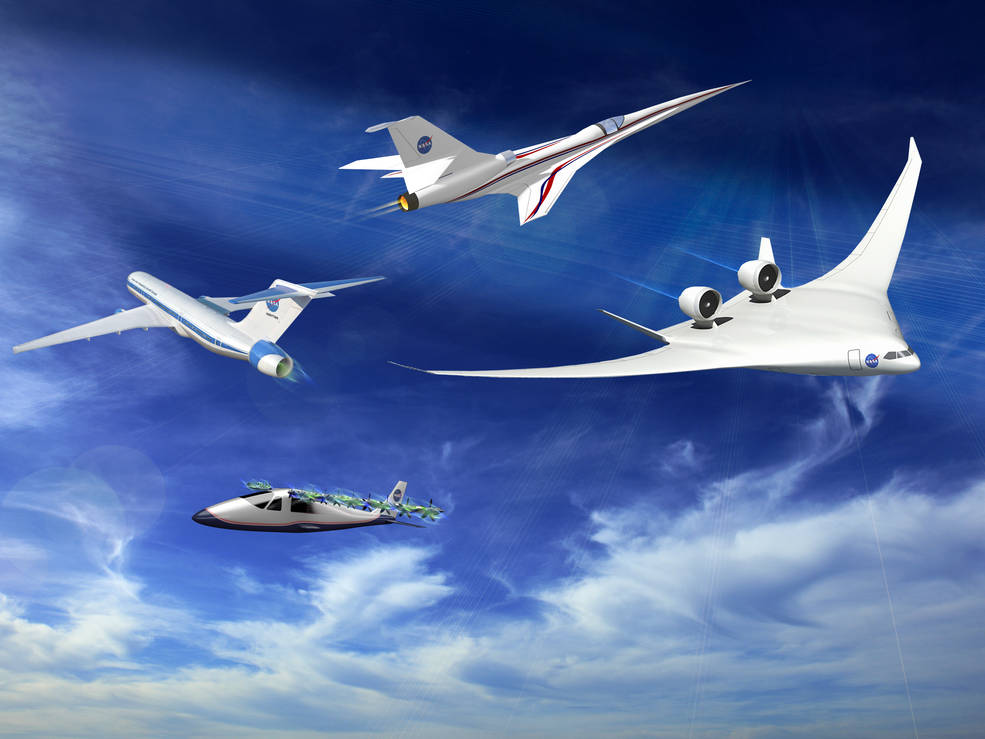Several of NASA's X-Plane concepts.