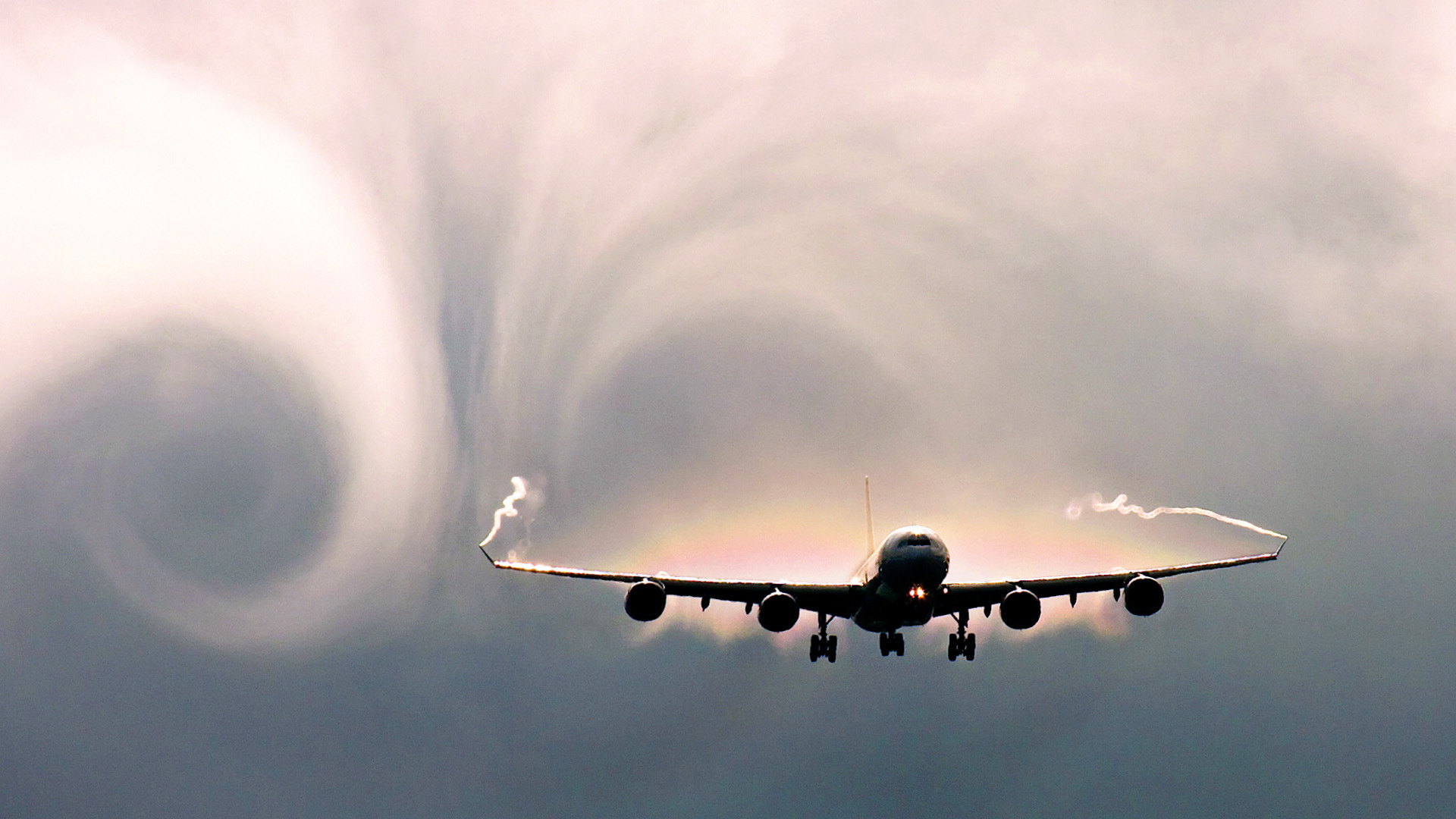 A dramatic visualization of air turbulence. Photo: BRG