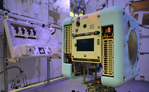 Astrobee is a floating cube-shaped robot that will soon help astronauts on the International Space Station.