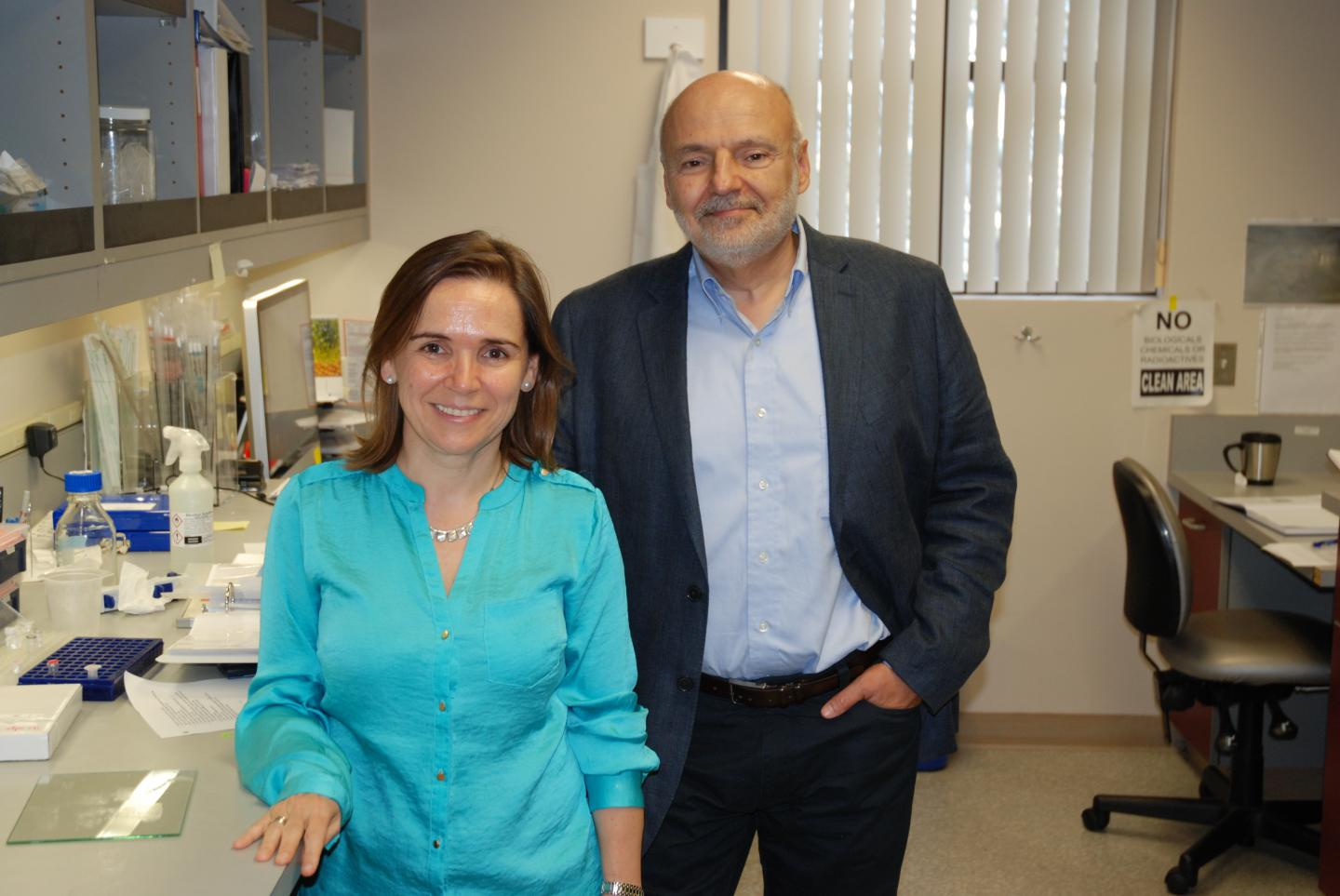This is Maria-Diaz Meco, Ph.D., professor, and Jorge Moscat, Ph.D., professor and director of Metabolism Initiatives at SBP. / Credit: Sanford Burnham Prebys Medical Discovery Institute (SBP)