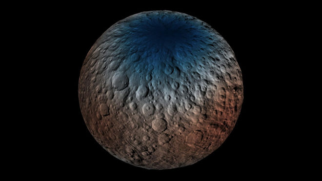 Ceres could be harboring huge amounts of water ice.