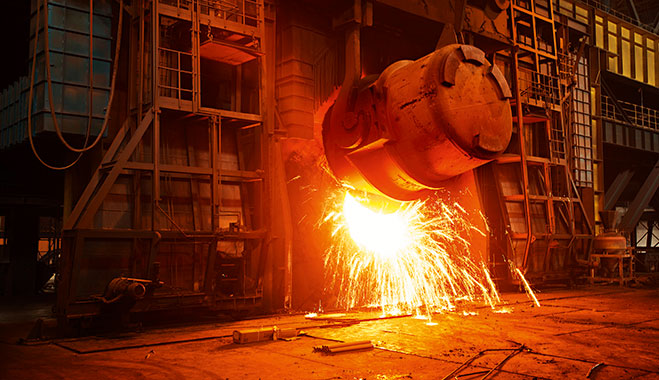 A steel manufacturing plant in Shanghai, China. Photo: World Finance