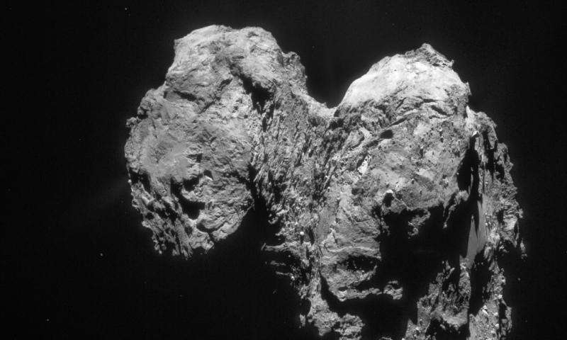Comet 67P's weird shape probably isn't primordial as originally thought.