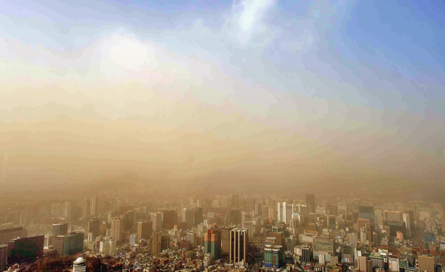 The weather phenomenon called Yellow Sand or Asian Dust has been known to engulf cities in South Korea. Photo: Stars and Stripes