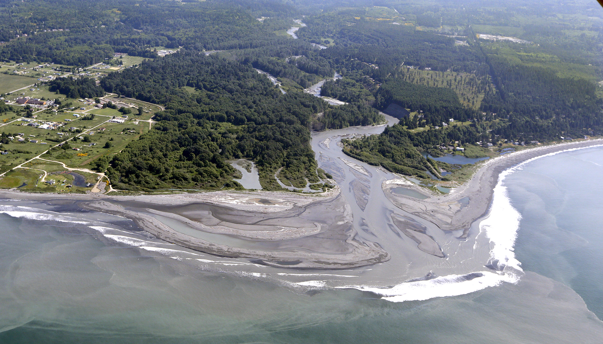 The nearshore of the Elwha River post dam removal. Photo: news.nationalgeographic.com