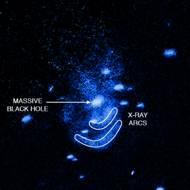 A black hole has been observed burping gasses after it consumed matter.