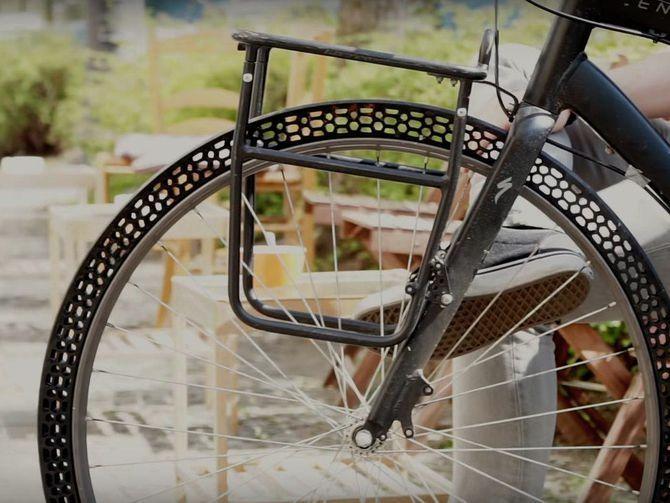 BigRep's 3D-printed airless bicycle tire, credit: BigRep