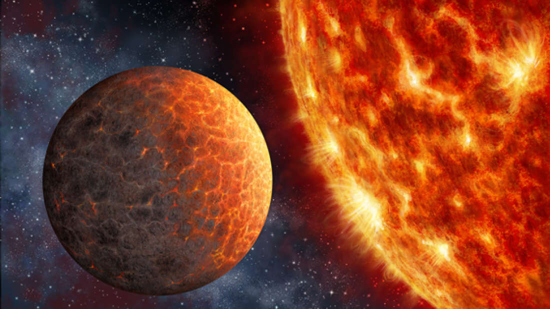 An artist's impression of Kepler-1649b, which is apparently a lot like Venus.