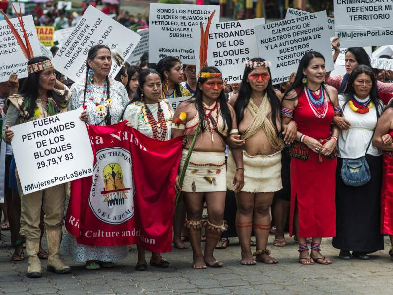 Over 500 Indigenous Women of the Amazon and Allies March for Climate Justice, Indigenous Rights on International Women's Day. Photo: Amazon Watch
