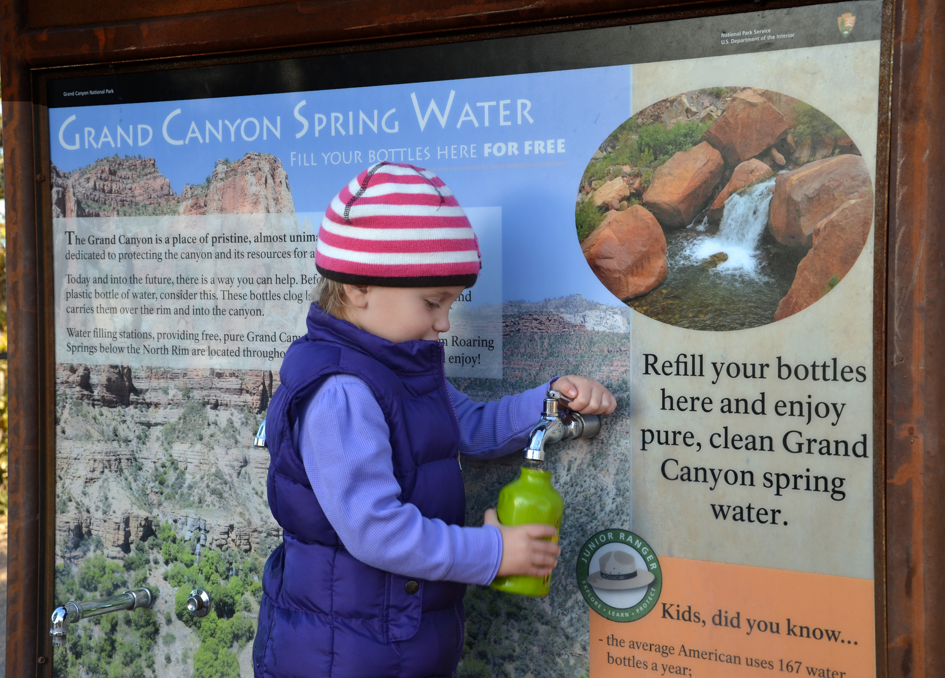 Water bottle filling stations are part of the campaign to go plastic-bottle-free in National Parks. Photo: GrindTV