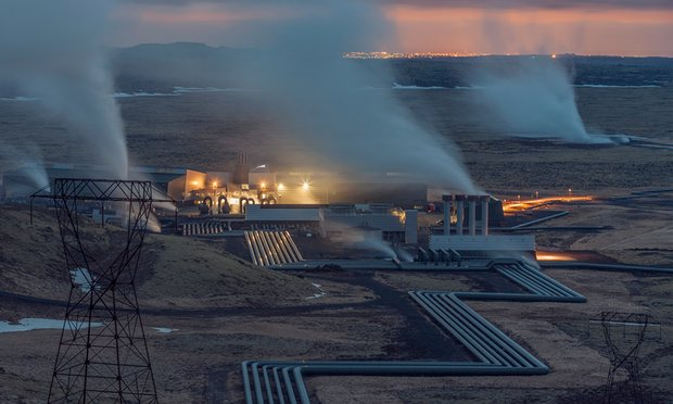 Hellisheiði geothermal plant, Iceland. Photo: Pedro Alvarez for the Observer