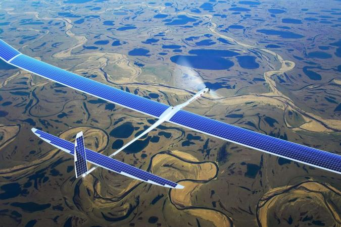 An artist's impression of Google's solar-powered 5G drones.
