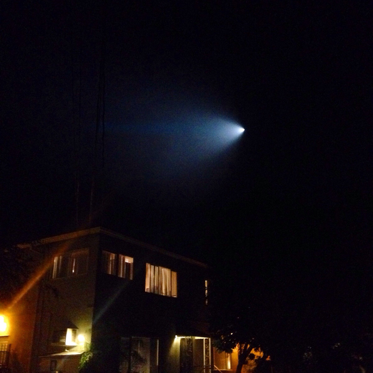 The strangle light seen in the skies of California and neighboring states Saturday night.