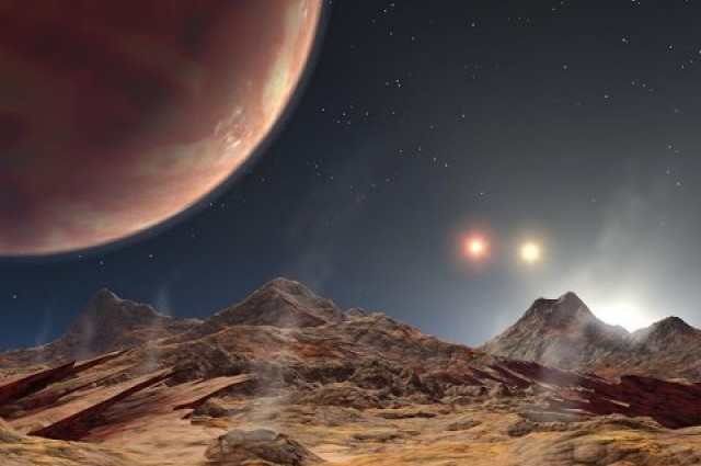 Researchers are monitoring a triple star system with a hot Jupiter-like planet inside of it.