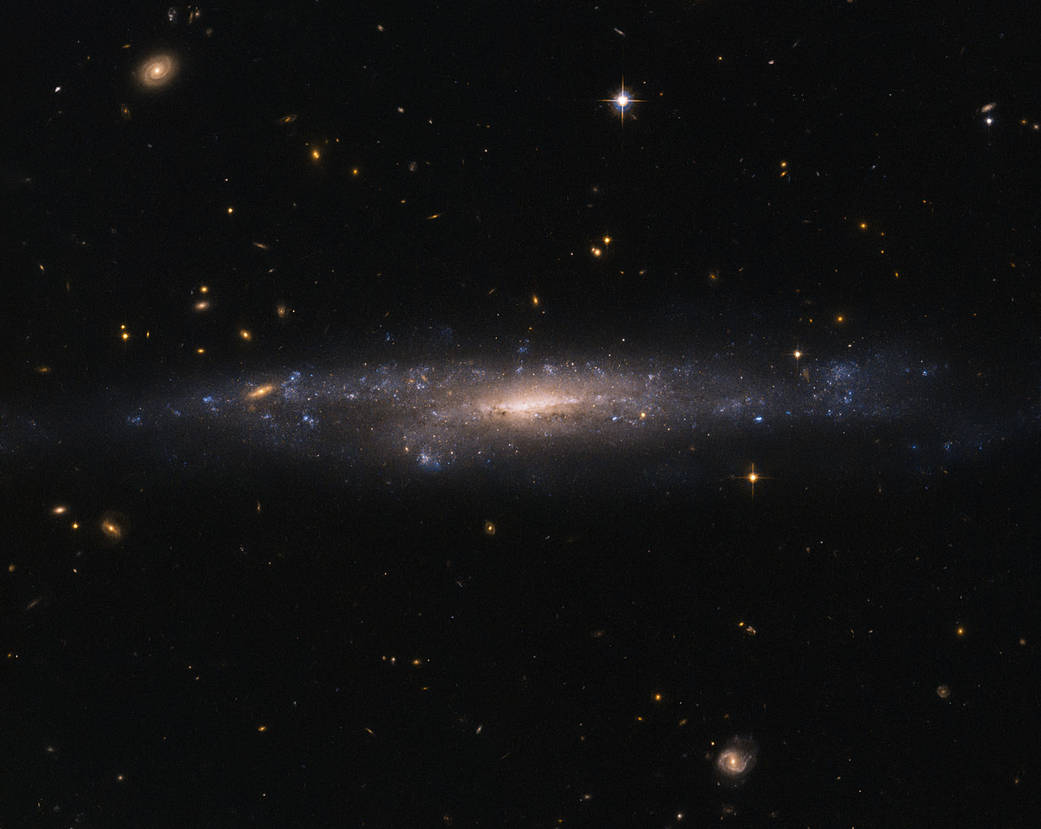 Hubble Space Telescope took this picture of UGC 477, a low surface brightness galaxy.