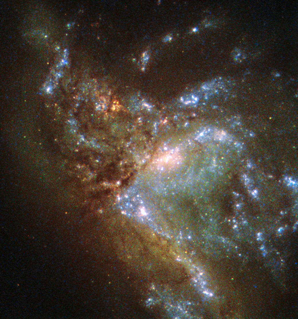Galaxy NGC 6052 as spotted by the Hubble Space Telescope.