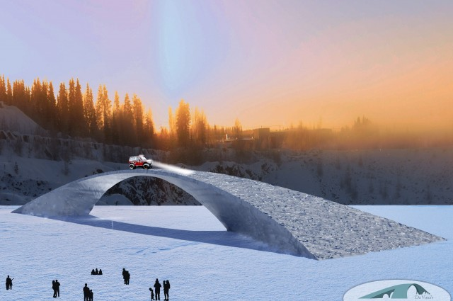 Artist's impression of the ice bridge when completed.