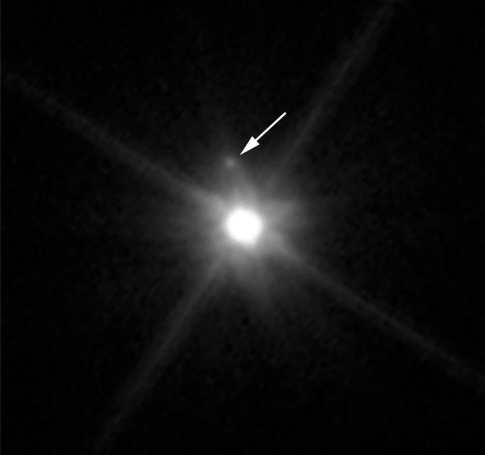 Makemake's newly found moon.