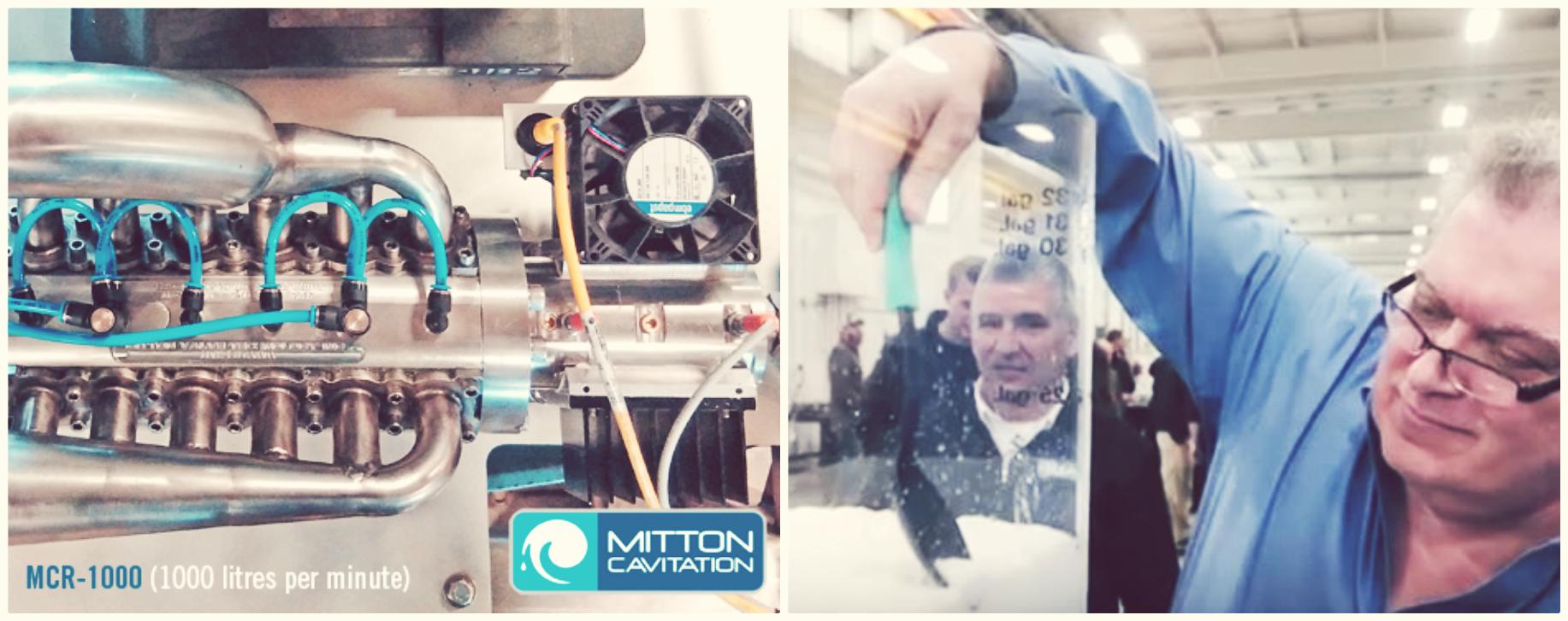 Mitton and the Mitton Cavitation Reactor, credit Mitton Cavitation