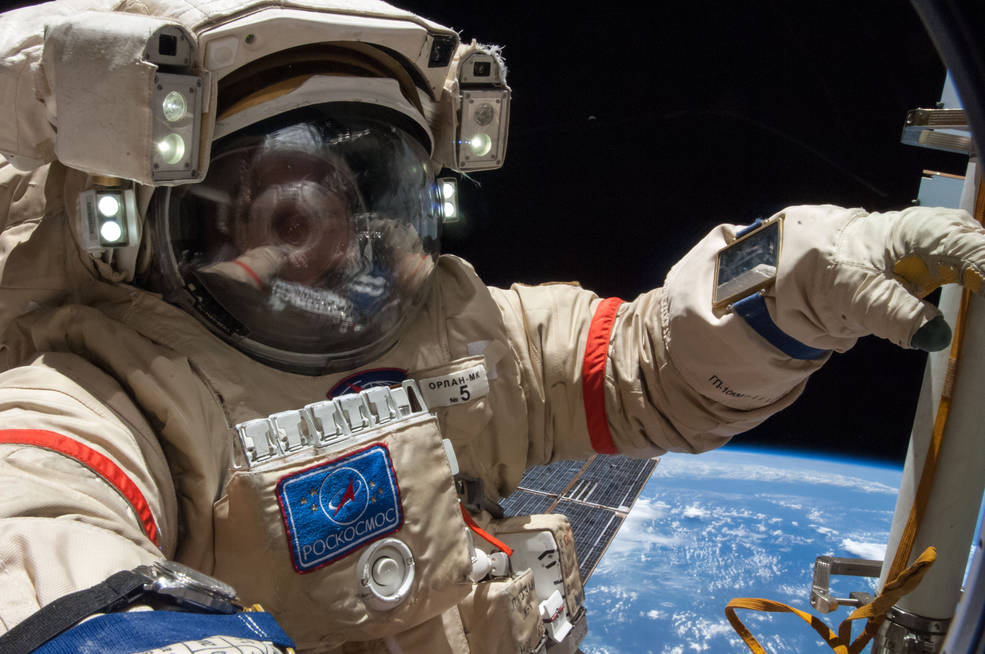 Two Russian cosmonauts will perform a spacewalk on the International Space Station on Wednesday.