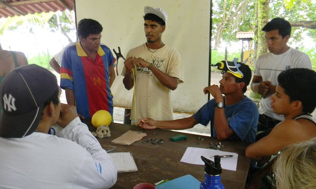 Jairo Mora at the center for turtle conservation where he worked
