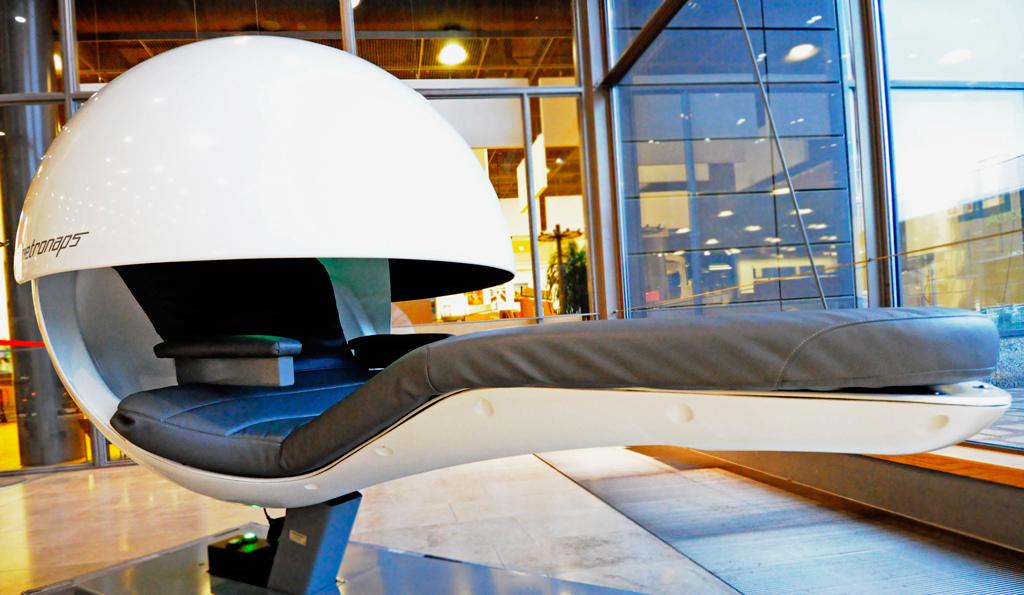 Sleep pod, credit: Sellon Kirjasto/Flickr