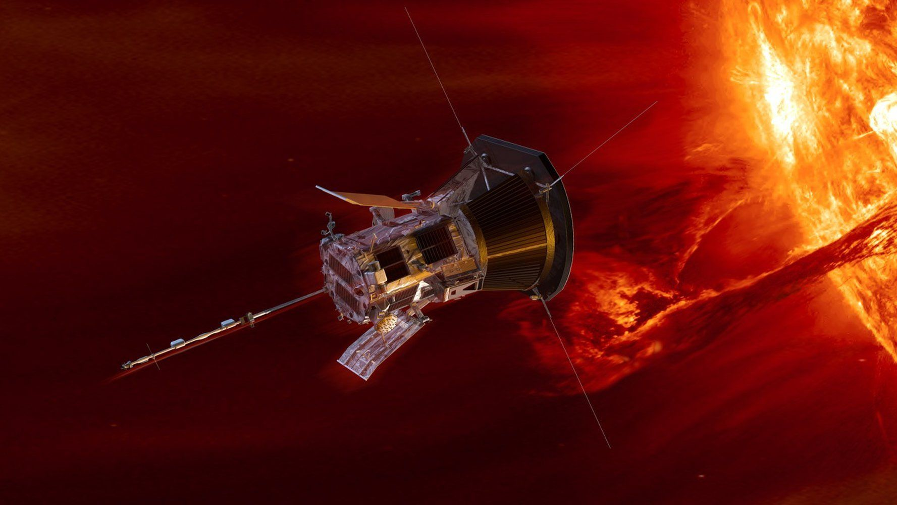 An artist's impression of NASA's Parker Solar Probe orbiting the Sun.