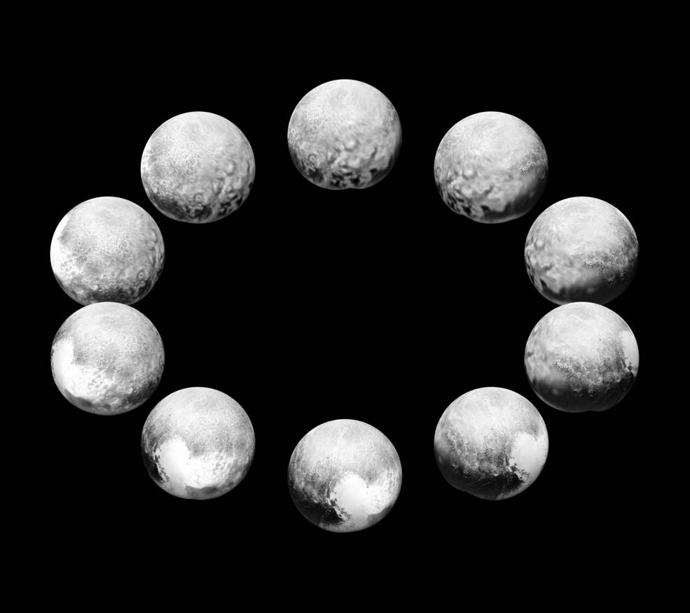 A full day on Pluto as shown by New Horizons.