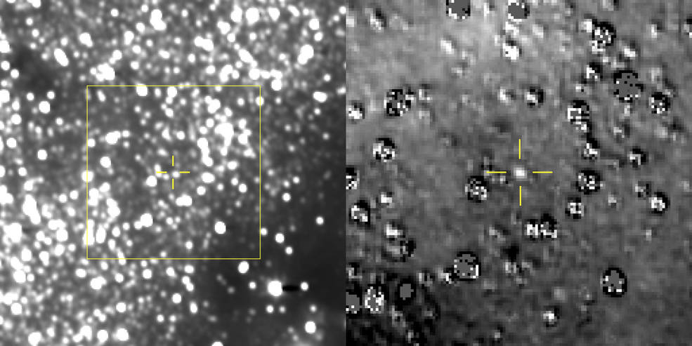 An image of Ultima Thule captured by New Horizons' LORRI instrument.