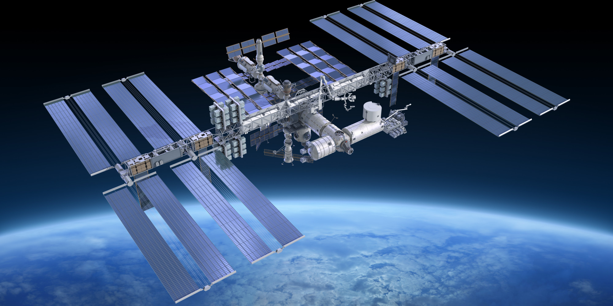 The International Space Station has been met with a supply spacecraft on Wednesday.