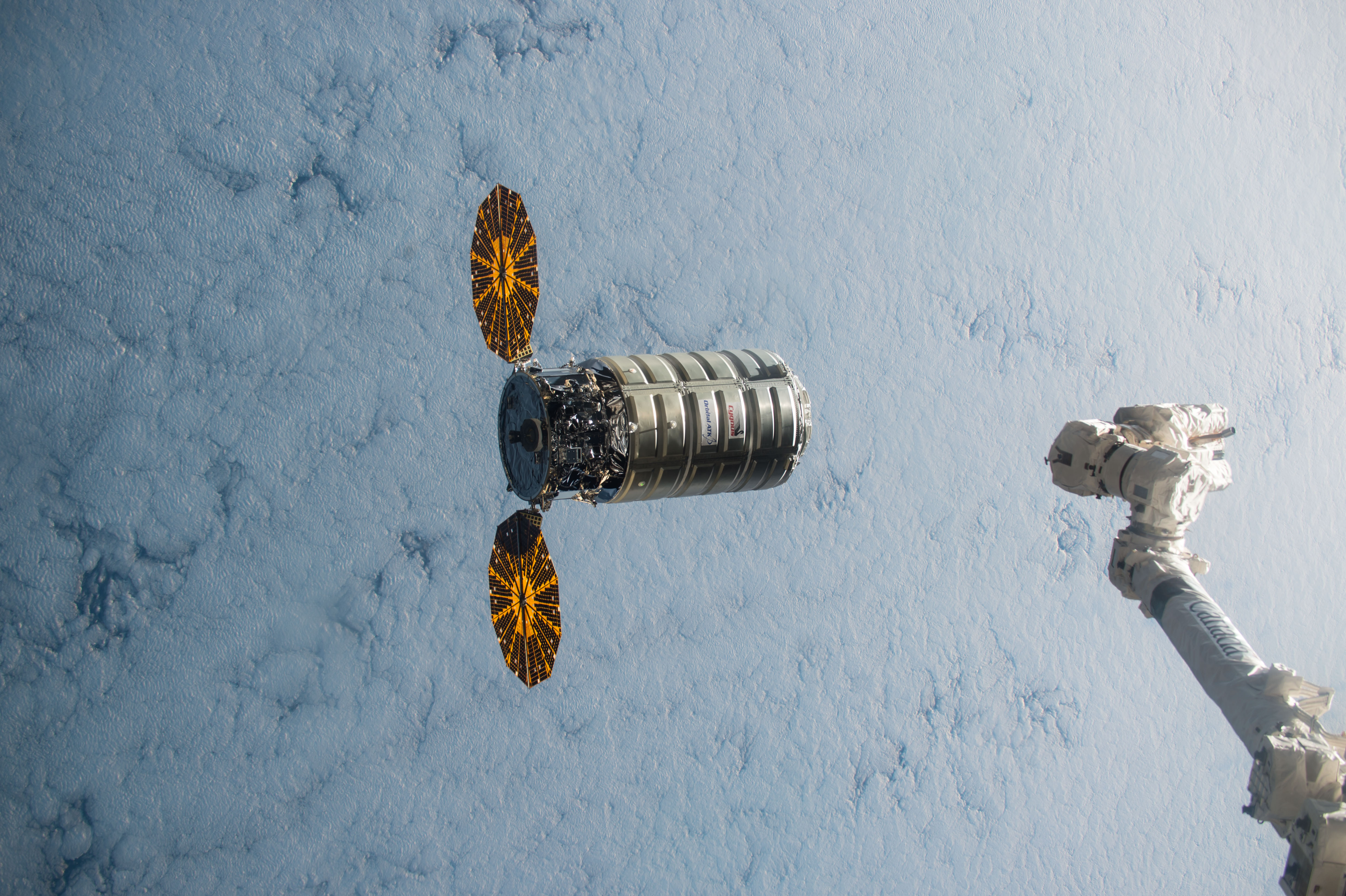 The Cygnus spacecraft NASA will be using for the experimentation.