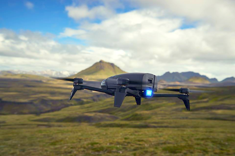 Parrot Bebop drone, credit: Parrot public Facebook photo