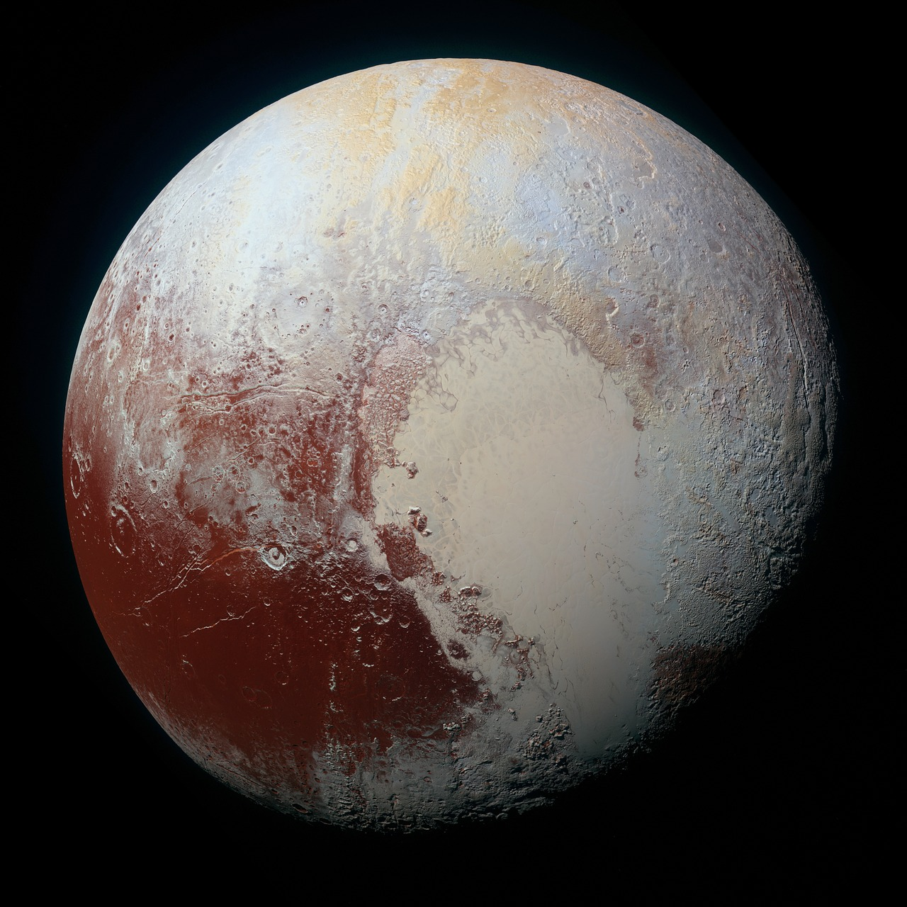 An image of Pluto, captured by NASA's New Horizons spacecraft during the 2015 fly-by mission.