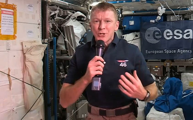 Tim Peake aboard the International Space Station.