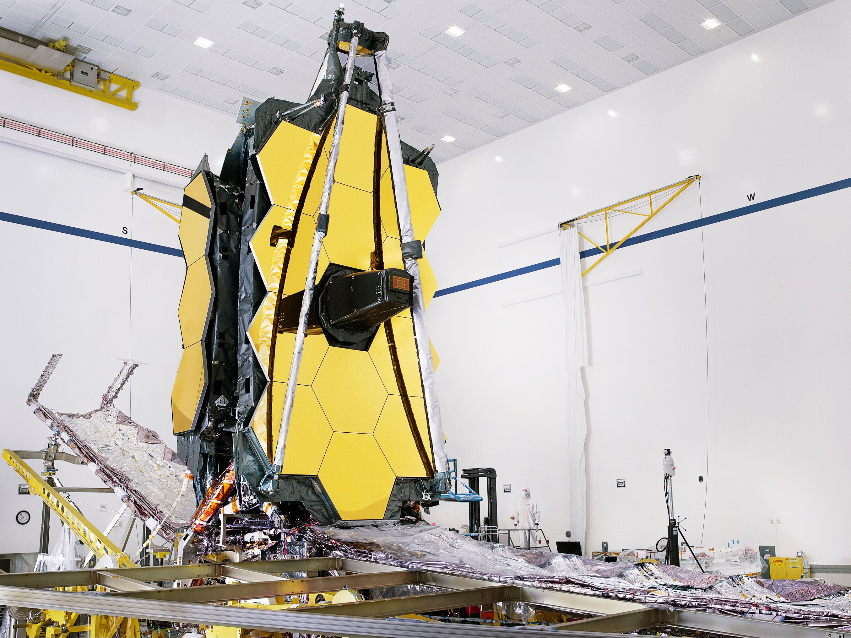 The fully-assembled James Webb Space Telescope in all its glory.