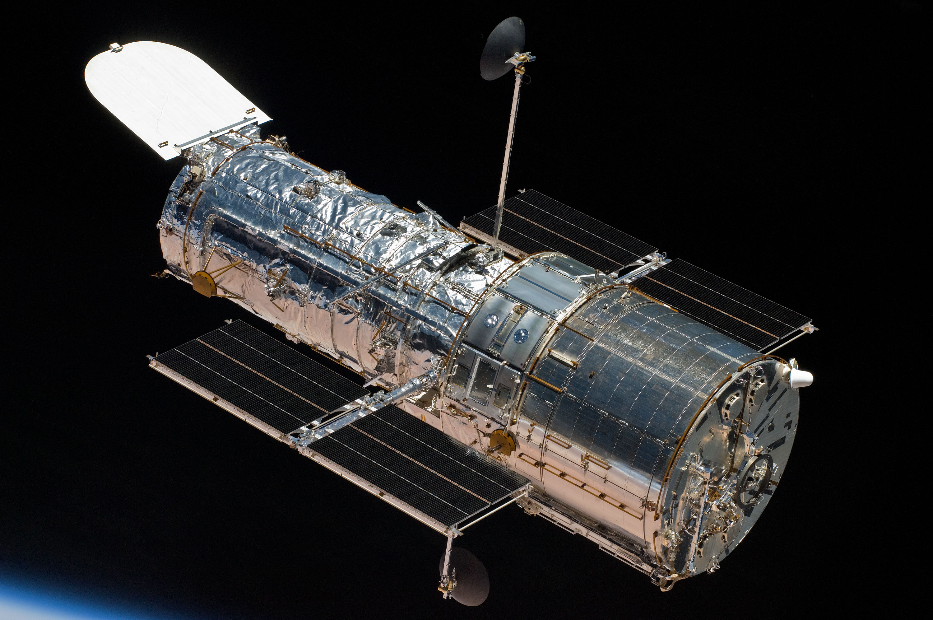 An image of NASA's Hubble Space Telescope.