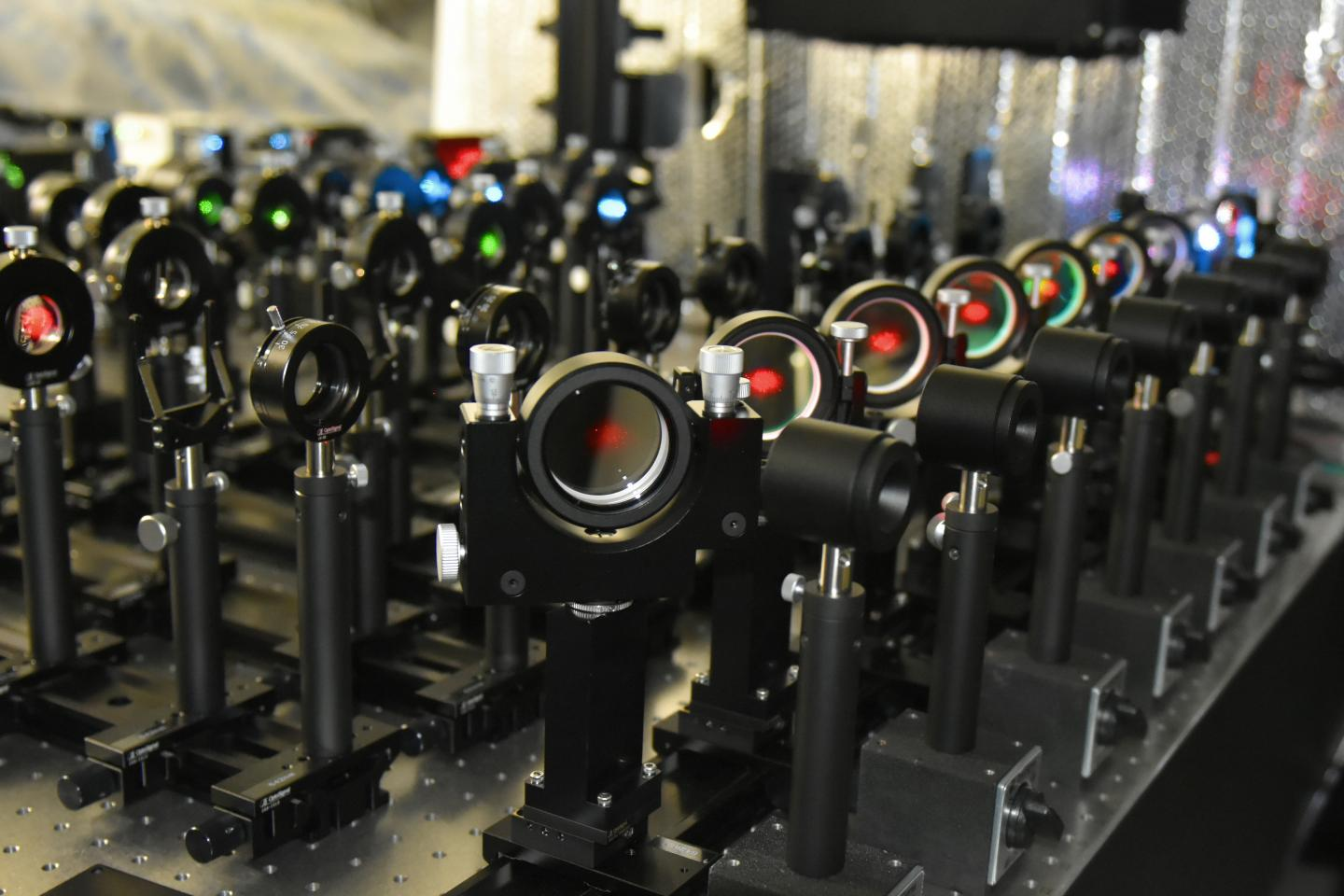 The microscope built by Membrane Cooperativity Unit for live-cell single fluorescent-molecule imaging. / Credit: OIST