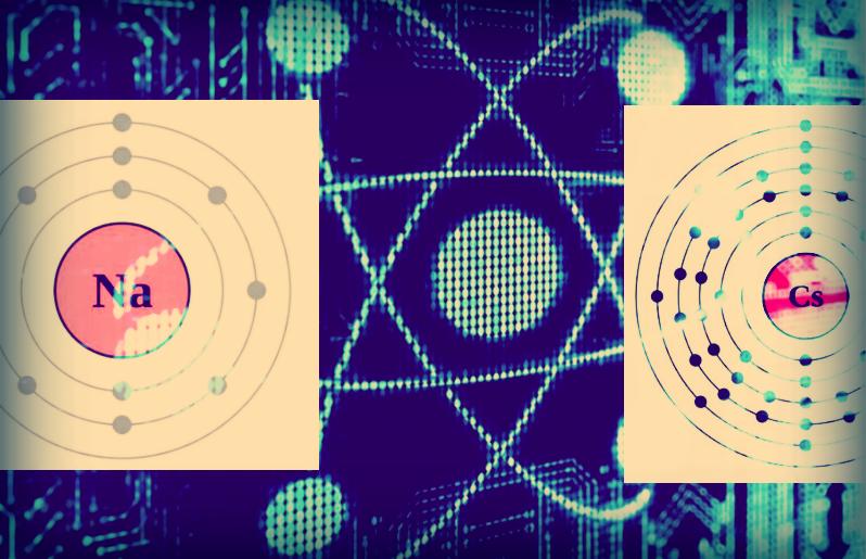collage, cesium and sodium, public domain, quantum computing illustration, credit: bestepebloggers.com