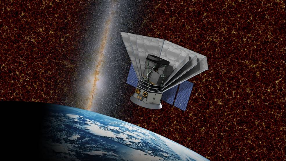 An artist's impression of the SPHEREx spacecraft.