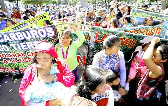 Indigenous Women Protest, credit: José Jácome/EPA